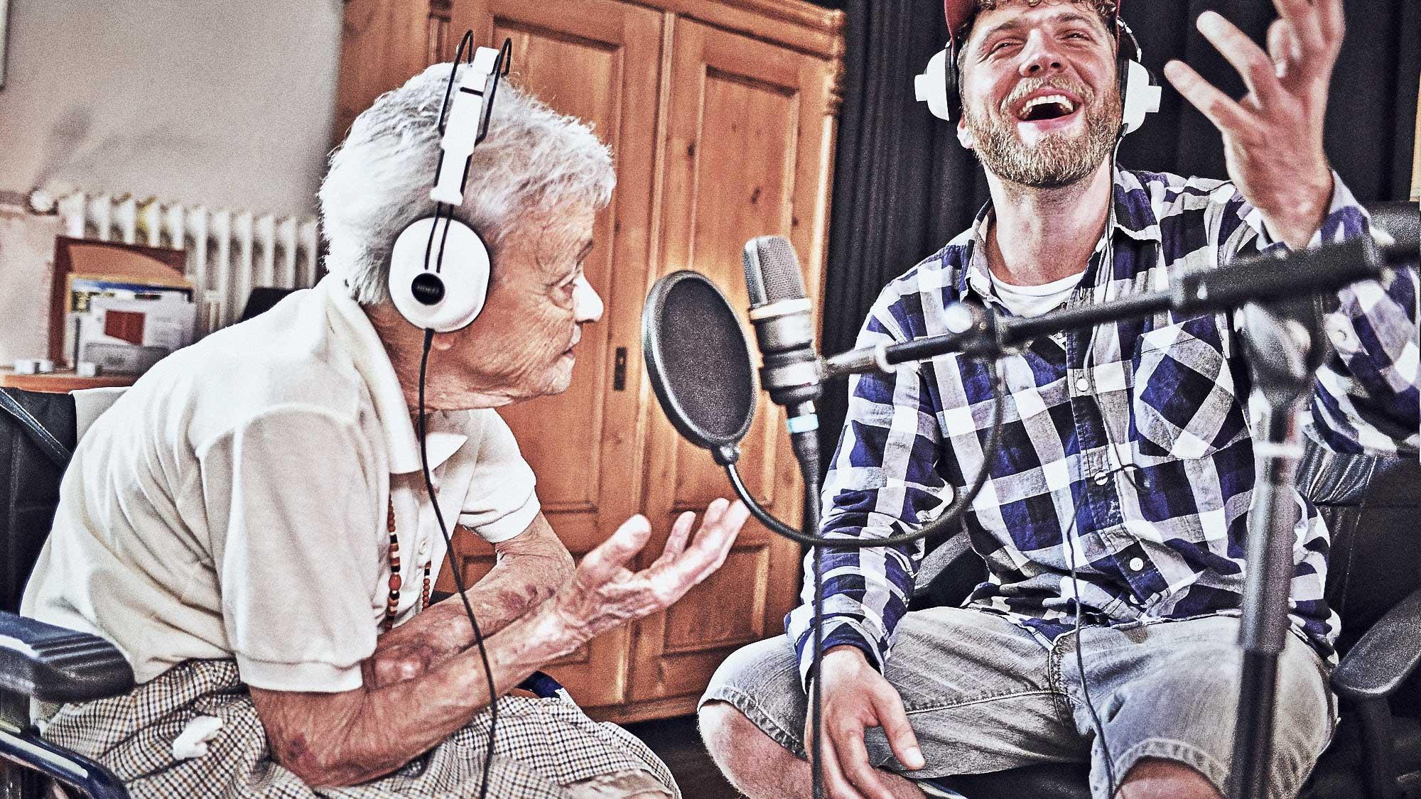 Freigold bei den Tonaufnahmen im Studio.
