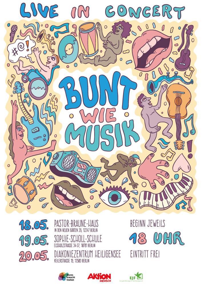 Bunt wie Musik Abschlussevent Poster